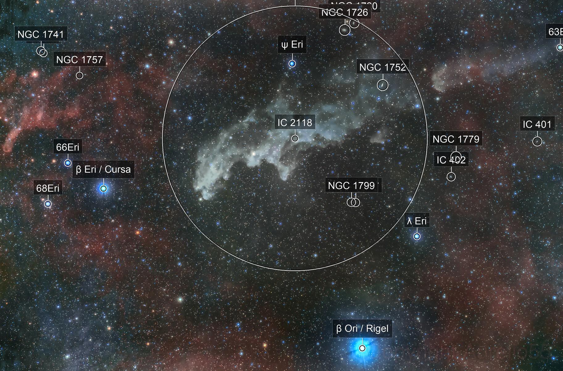 Witch Nebula, NGC 1909