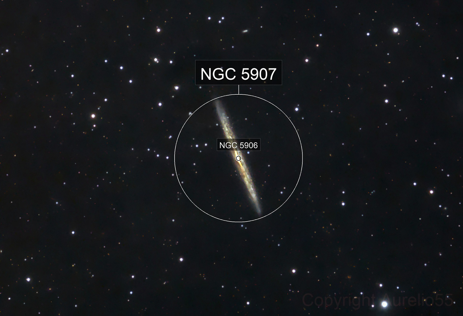 NGC 5907 in Draco