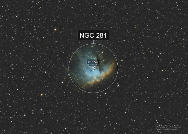 NGC 281 in Hubble Palette