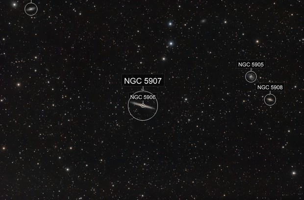 NGC5907 and friends