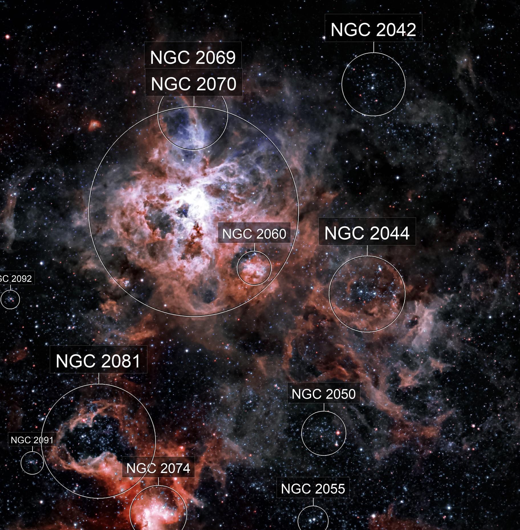 NGC 2070 Tarantula Nebula