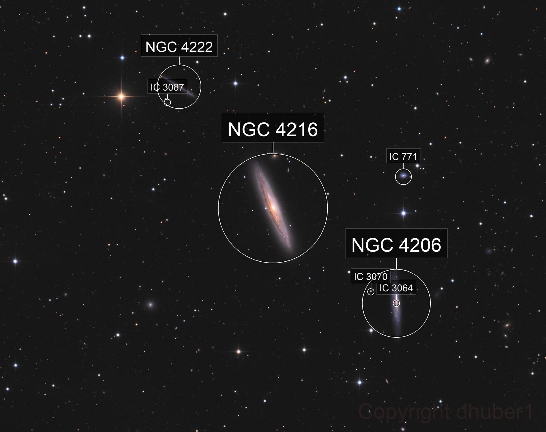 NGC 4216 & friends