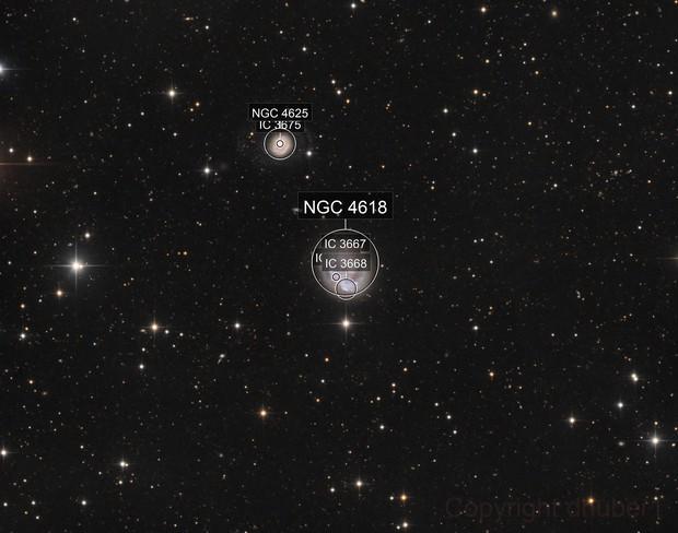 NGC 4618 in detail