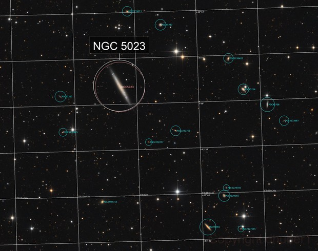 NGC 5023 and friends