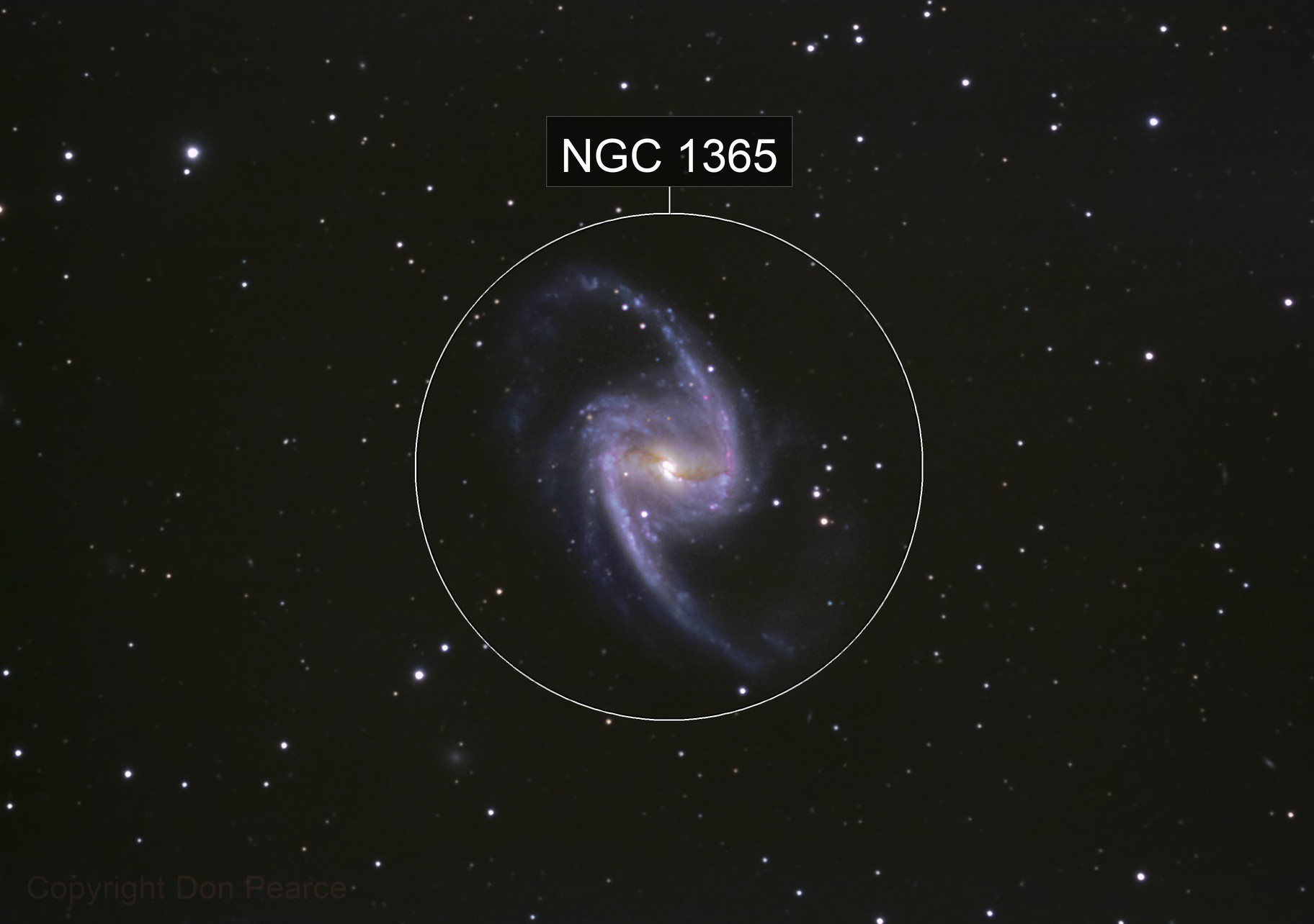 NGC 1365 Great Barred Galaxy in Fornax