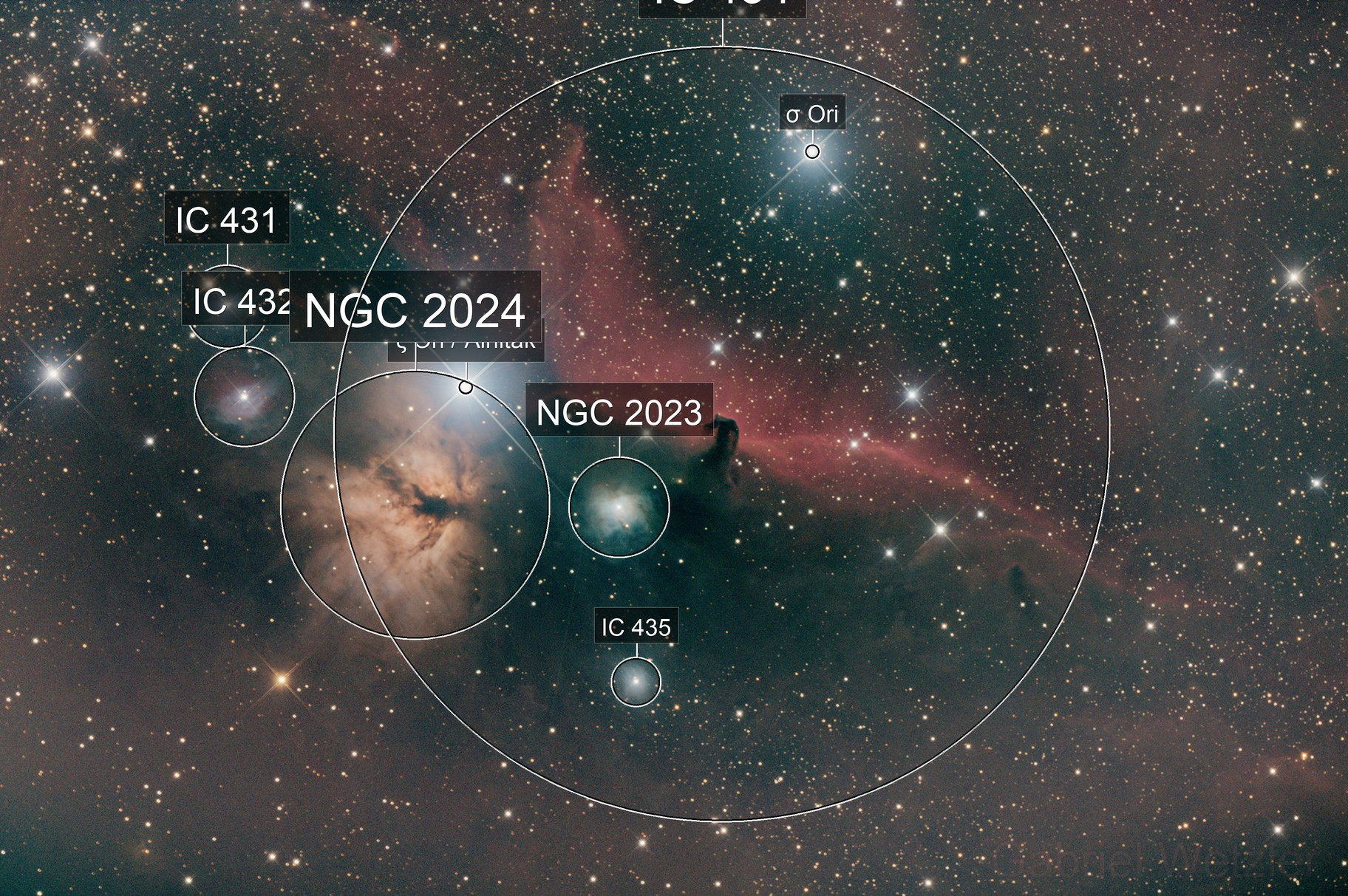 IC434  (Horsehead and Flame Nebula)