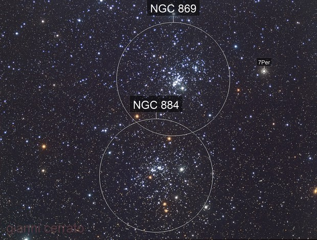 NGC869 - NGC884 - the Double cluster of Perseus