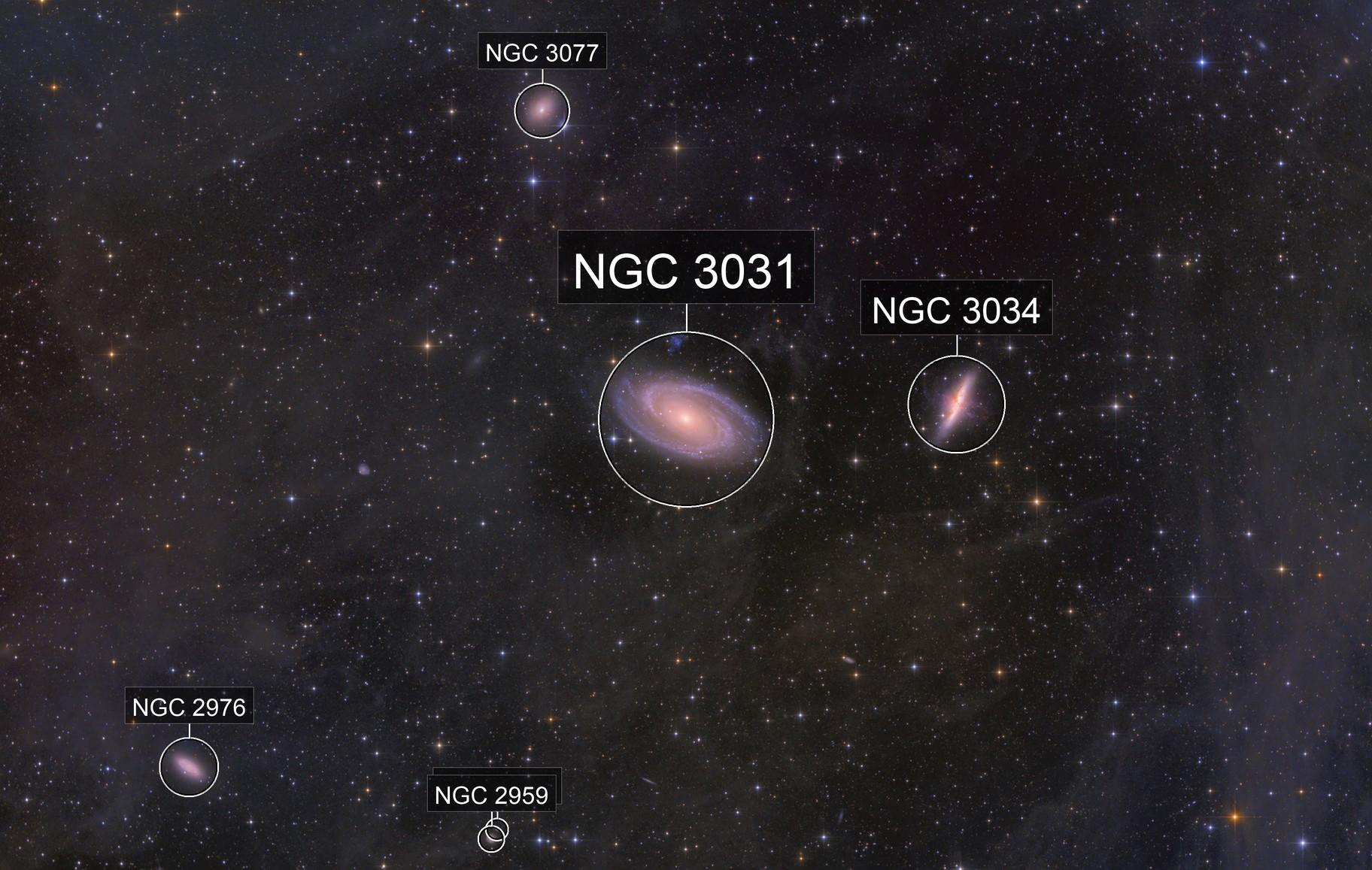 IFN towards Bode's Galaxy and the Cigar in HaLRGB