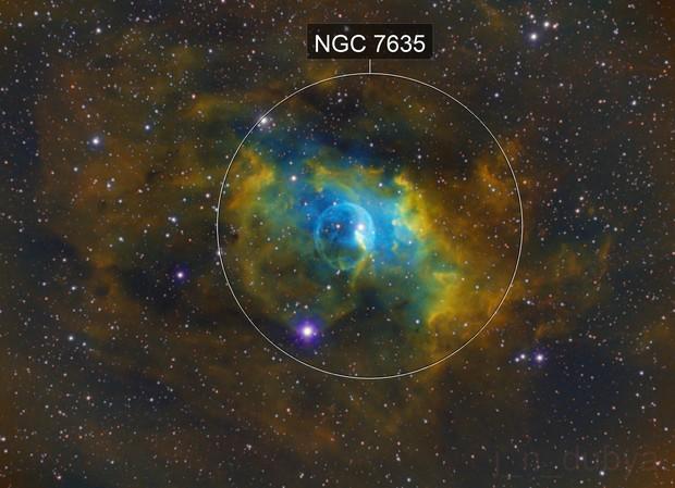 Hubble Bubble  (NGC 7635)