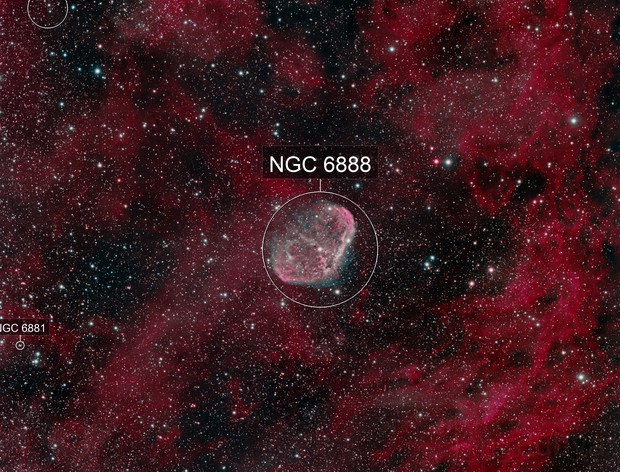 The Crescent Nebula (NGC 6888)