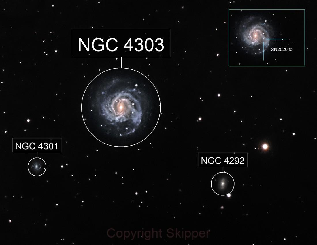 M61 - Swelling Galaxy & SN202jfo