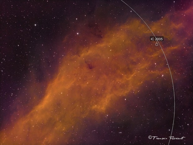 NGC 1499 California Nebula in Perseus