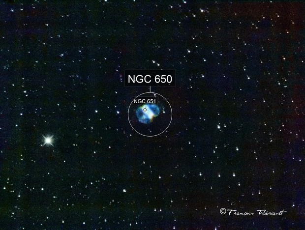 M-76 Little Dumbbell Nebula in Perseus