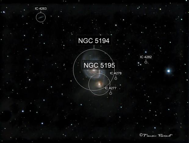 M-51 Whirlpool Galaxy in Ursa Major