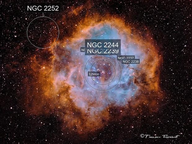 NGC 2244 Rosette Nebula in Monoceros