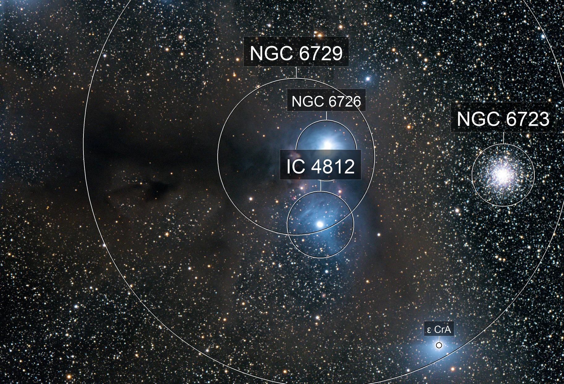 NGC 6726 Anteater Nebula