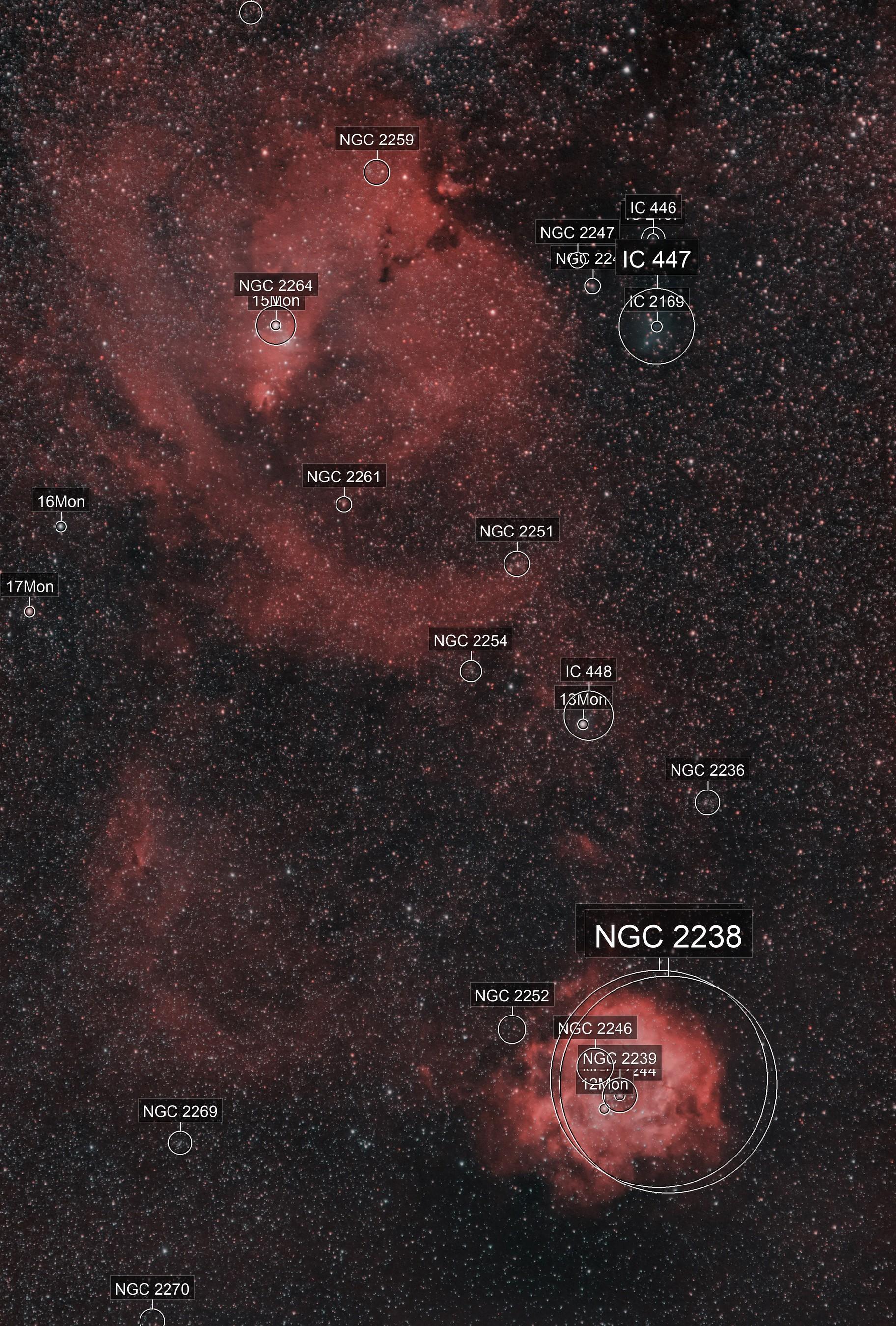 Rosette Nebula wide field