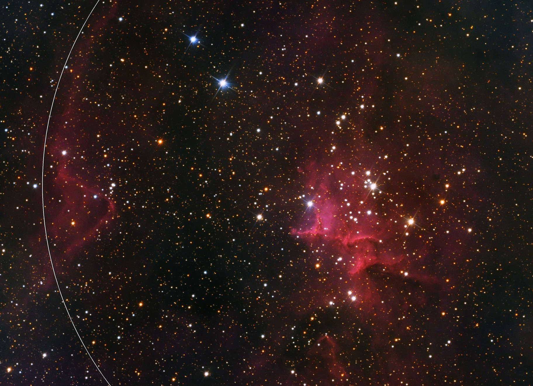 Melotte 15 in the heart of hearts