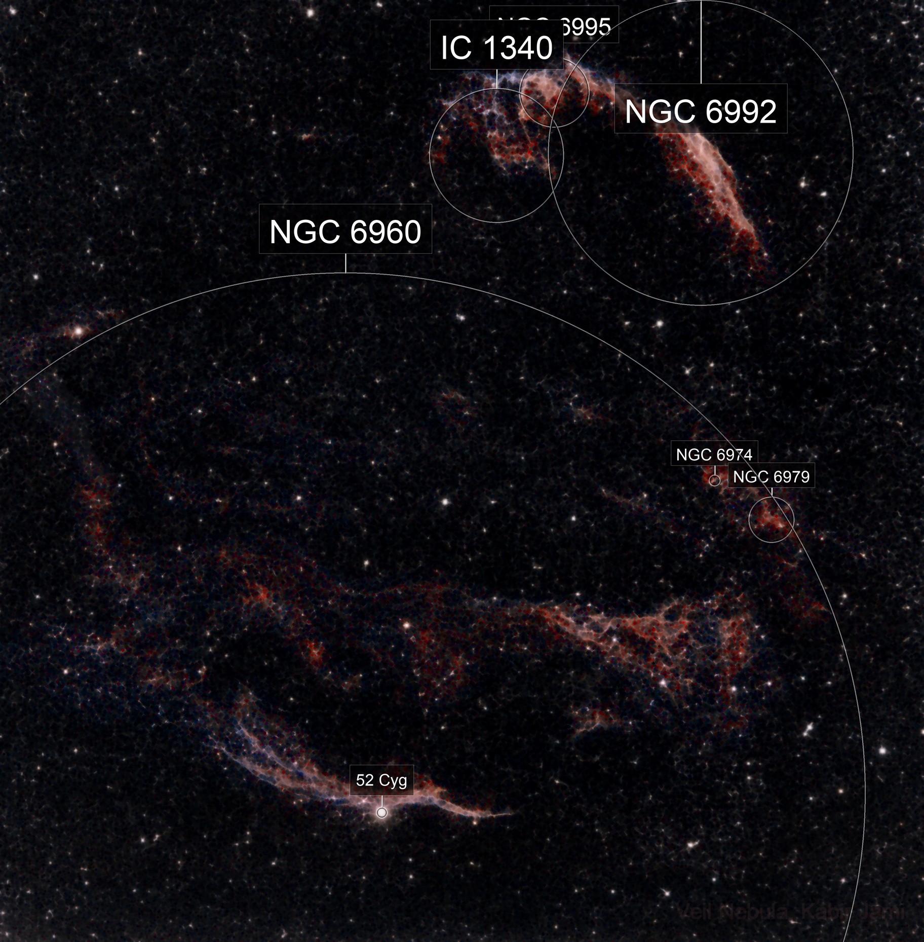 Veil nebula and the Cygnus Loop