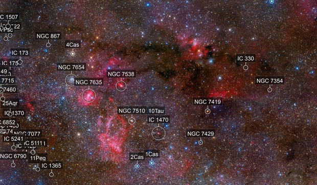The Border between Cassiopeia and Cepheus