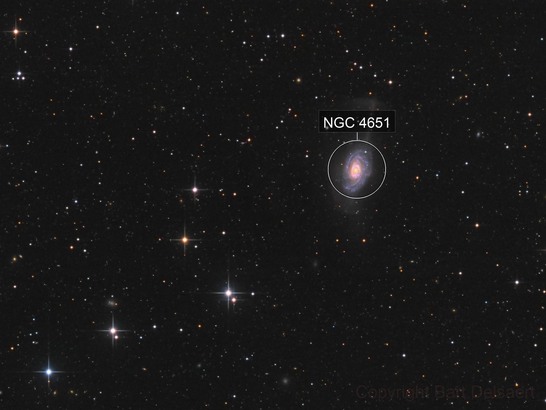 NGC 4651 - The Umbrella Galaxy