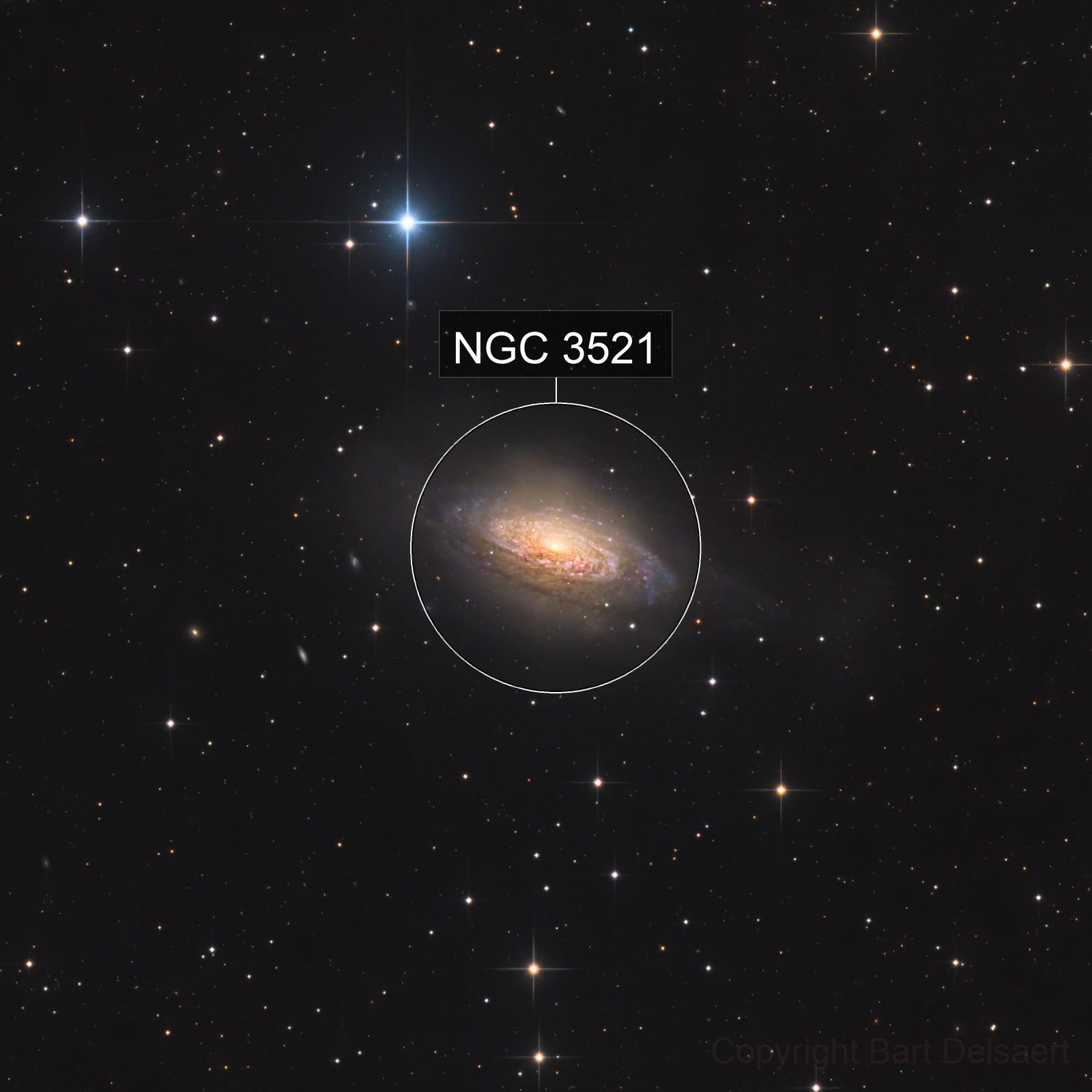 Dusty NGC 3521