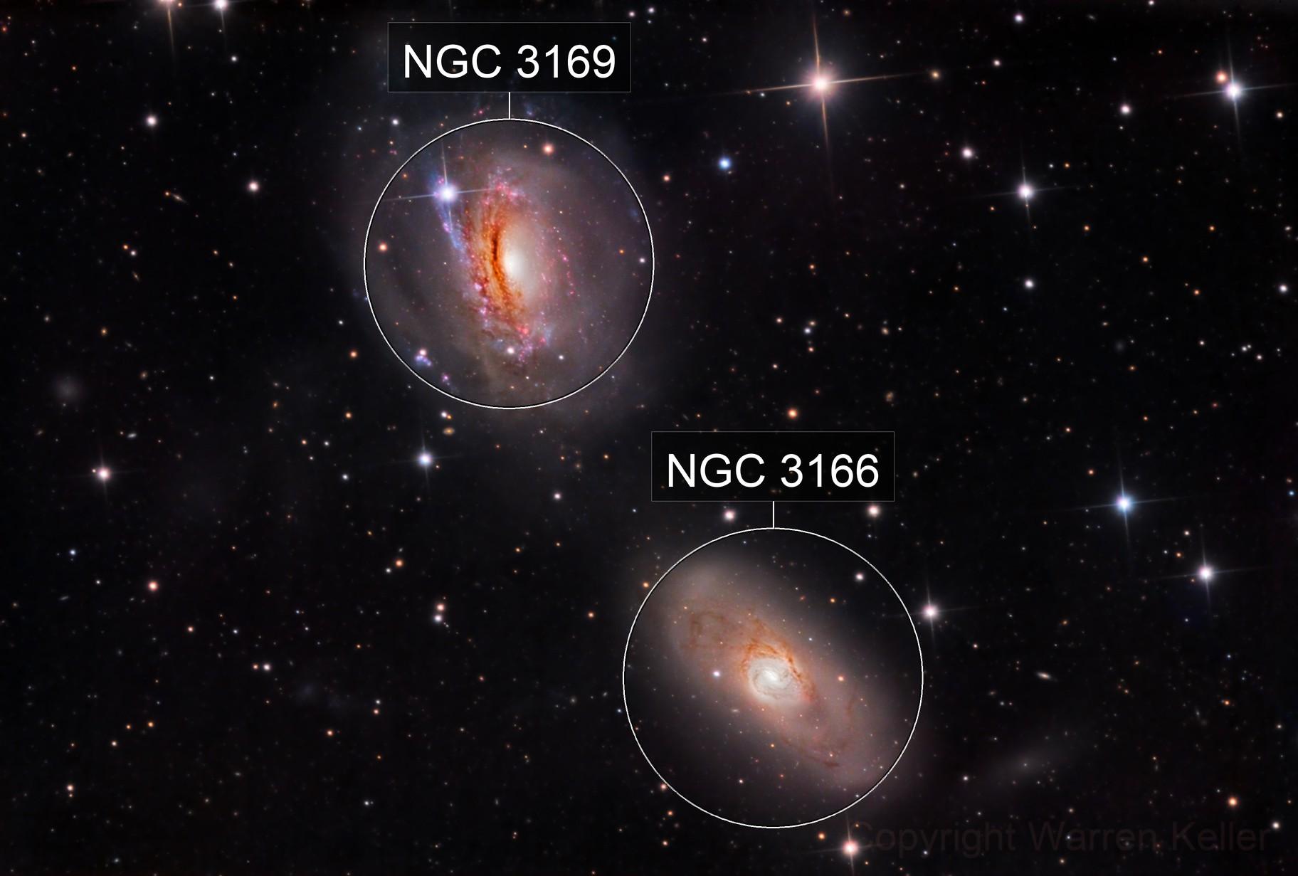 NGC 3166 and 3169