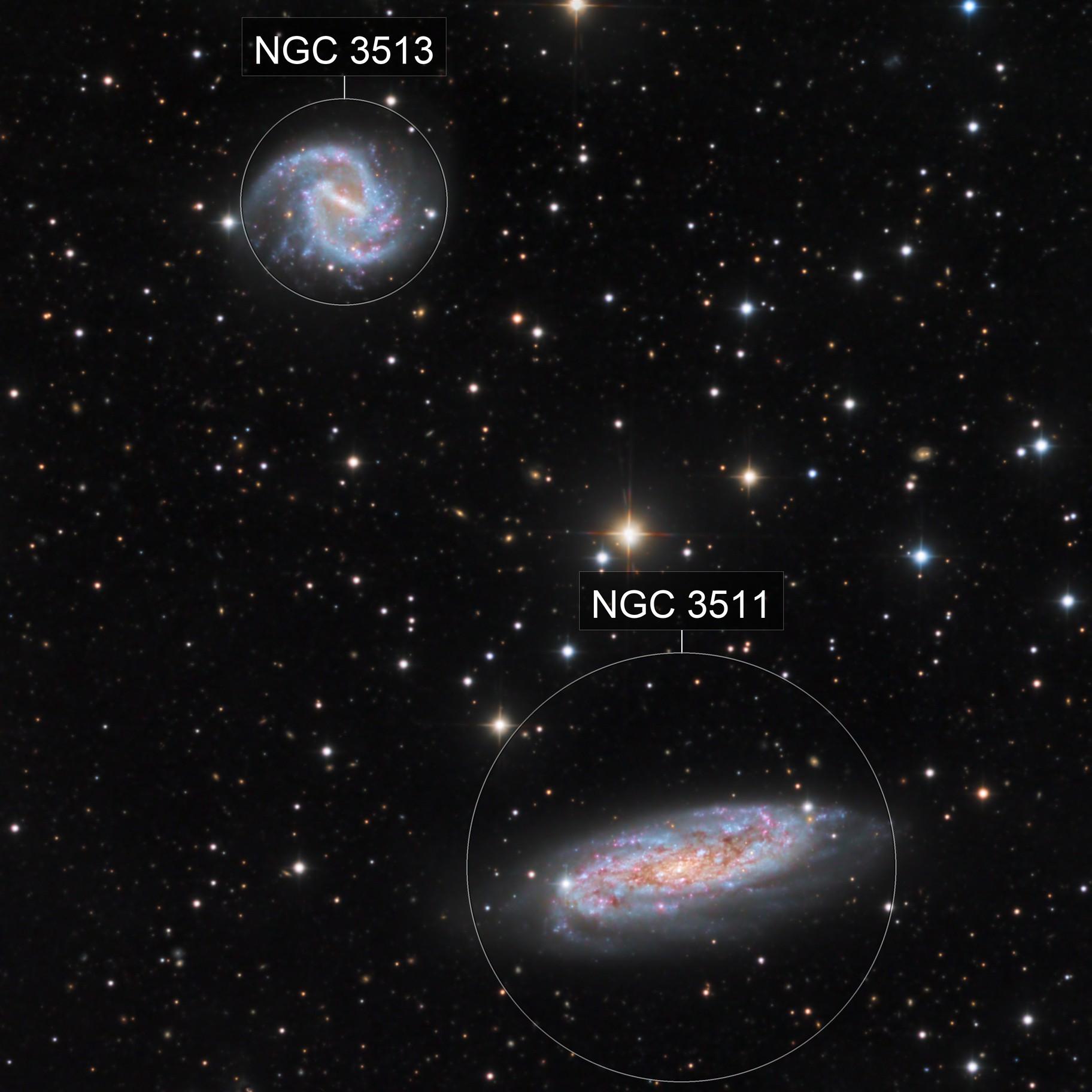 NGC 3511 and 3513