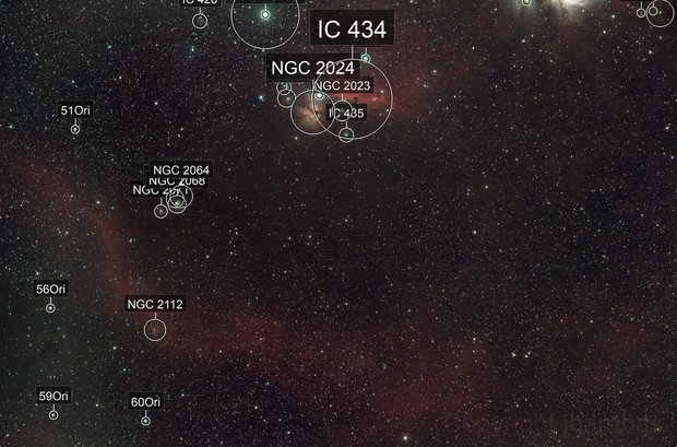 Barnard's Loop close-up