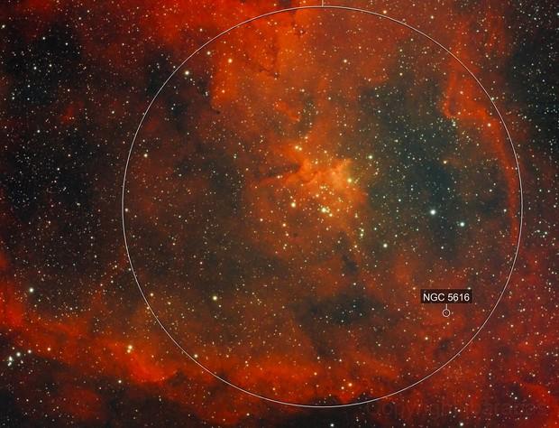 Heart nebula in dual narrowband