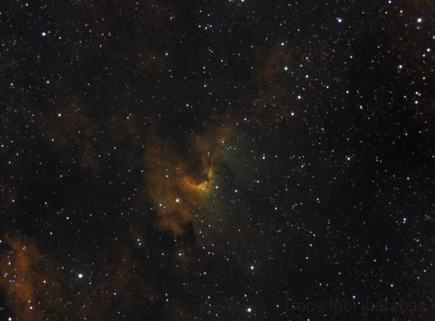 Cave nebula in SHO palette
