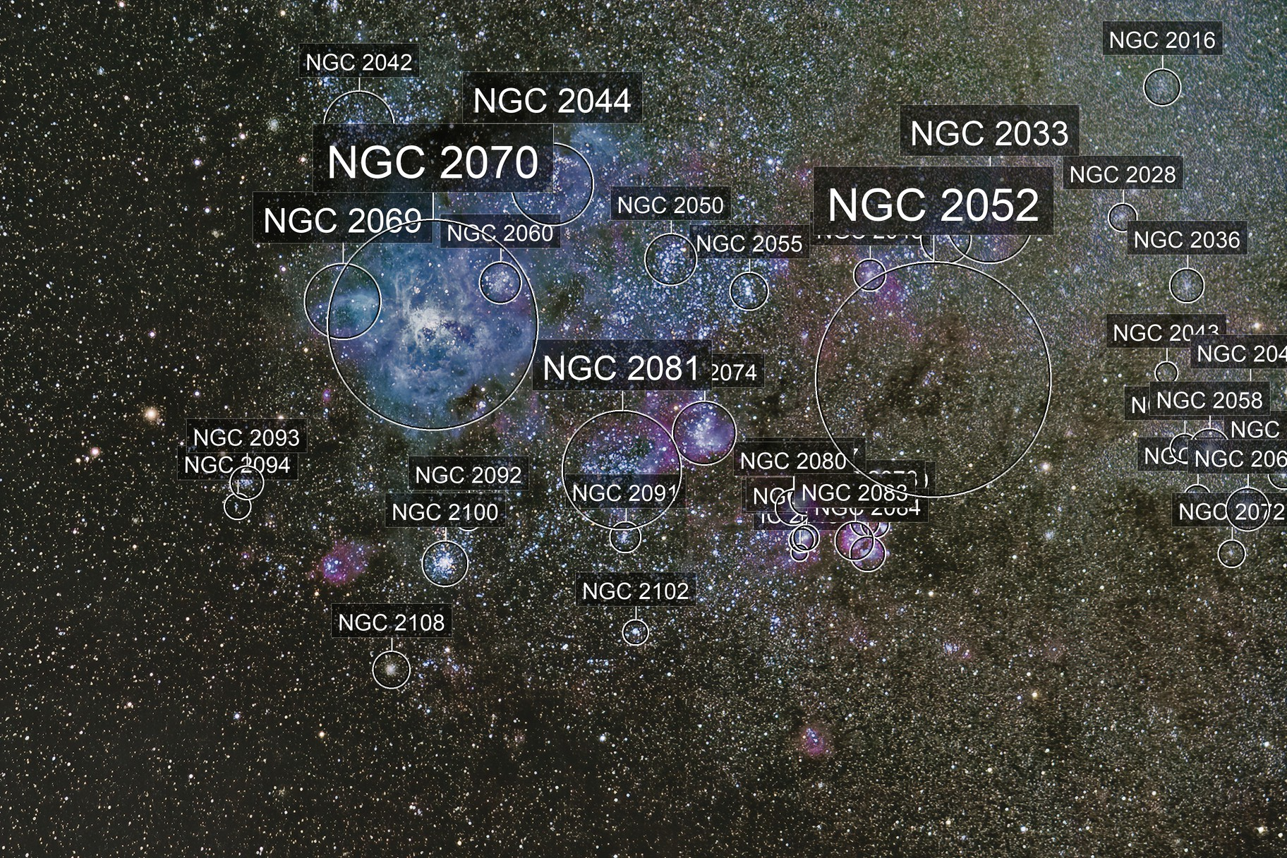 NGC 2070 (Caldwell 103) Tarantula Nebula