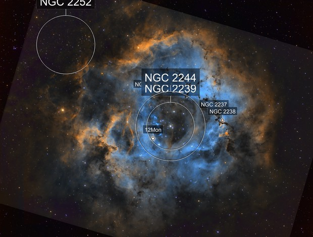 Rosette Nebula (new and old data combined)