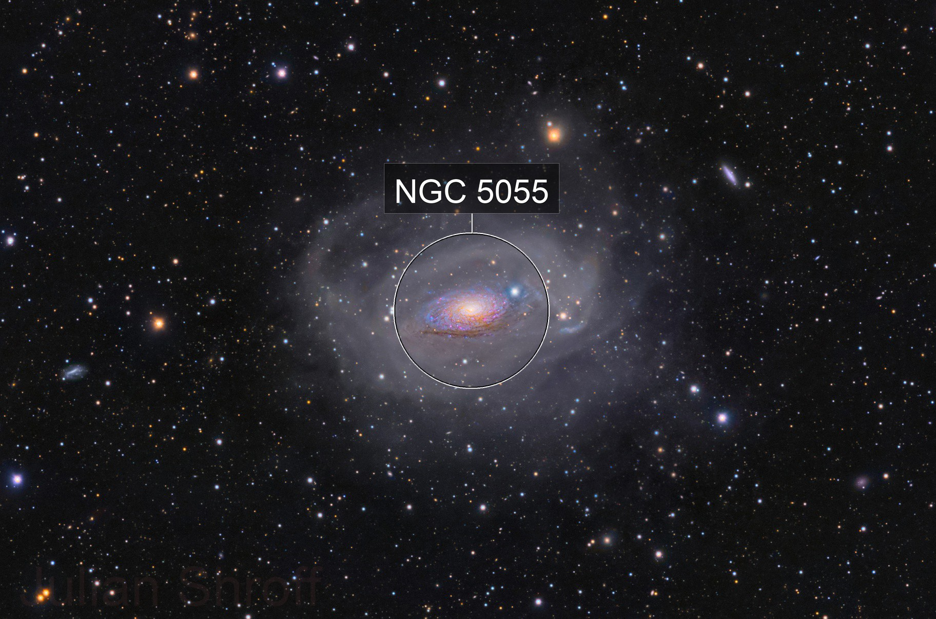 A Deep Look into M63 and its tidal stream