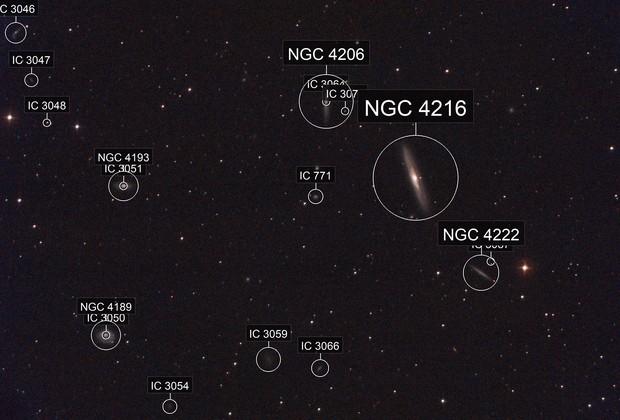 NGC4216, NGC4206, NGC4222