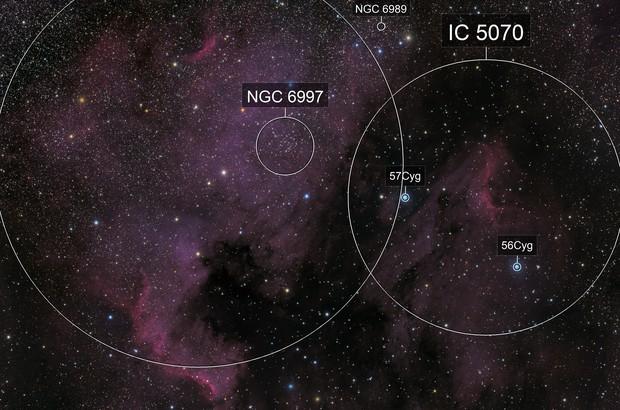NGC 7000 and IC 5070 LRGB version