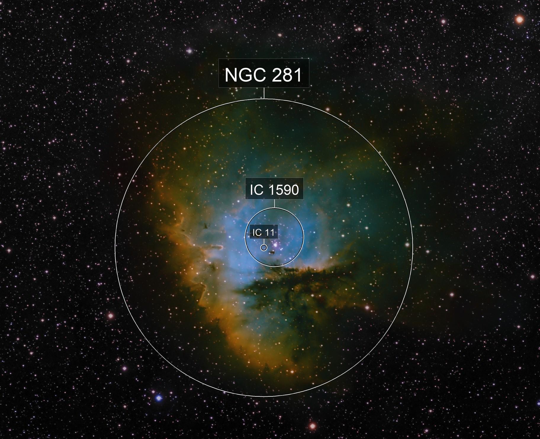 NGC 281 HST palette