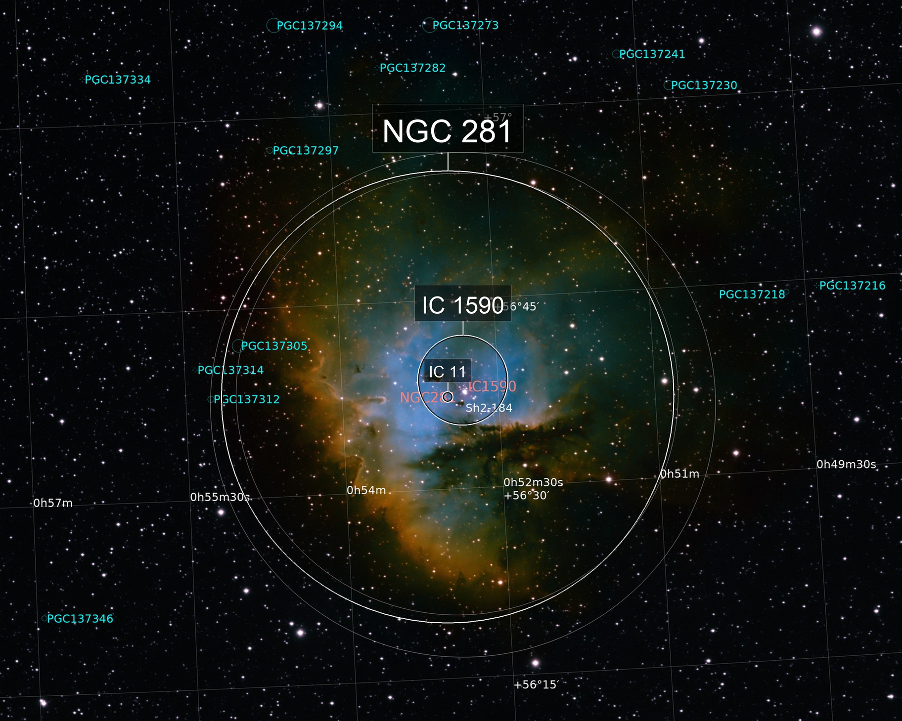NGC 281 HST palette