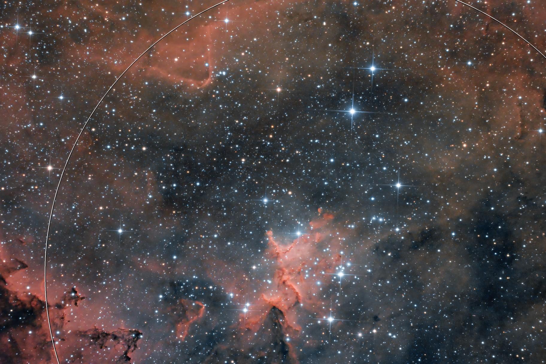 The center of Heart Nebula