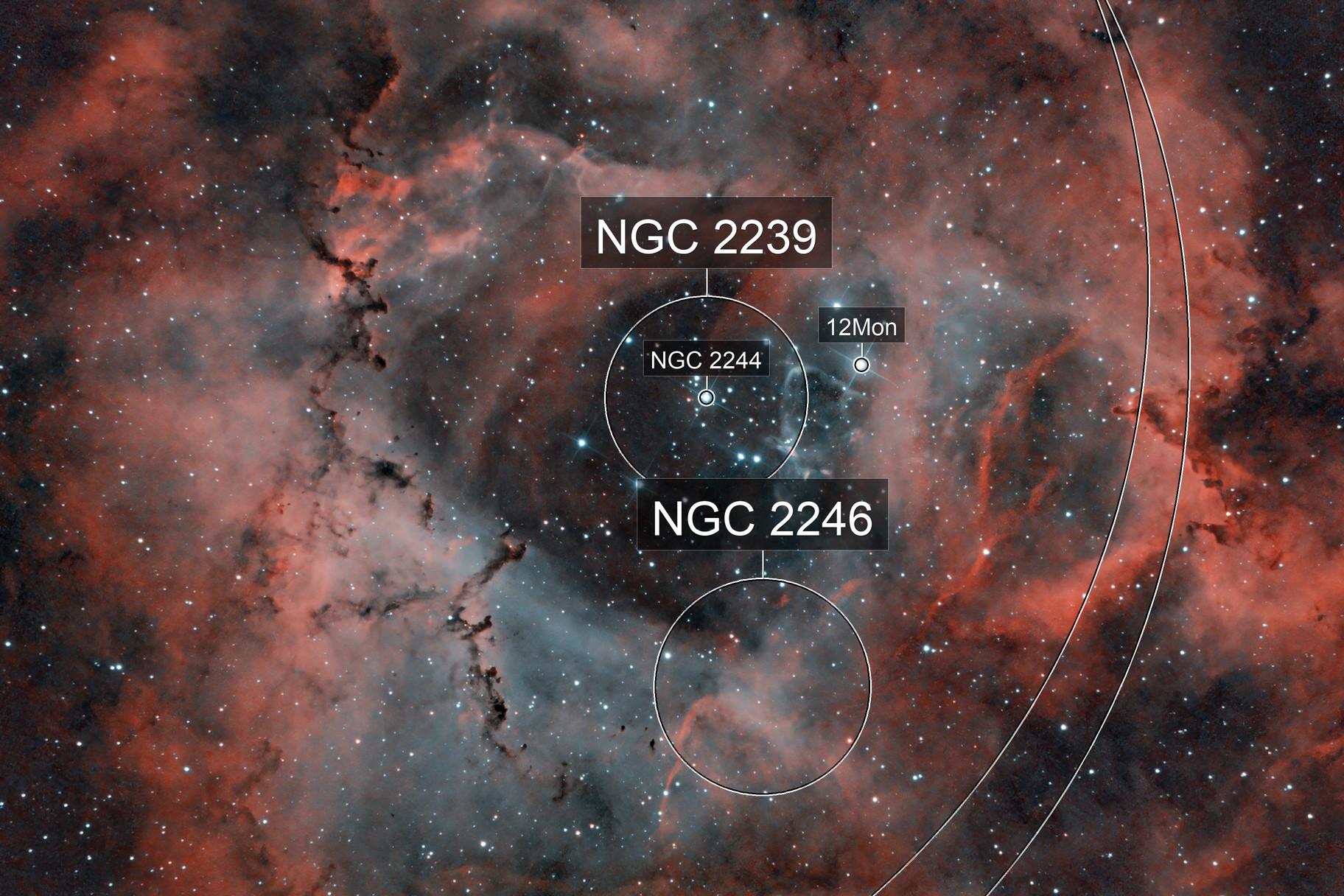 Rosette Nebula - Full Moon - Duo Narrowbandfilter test