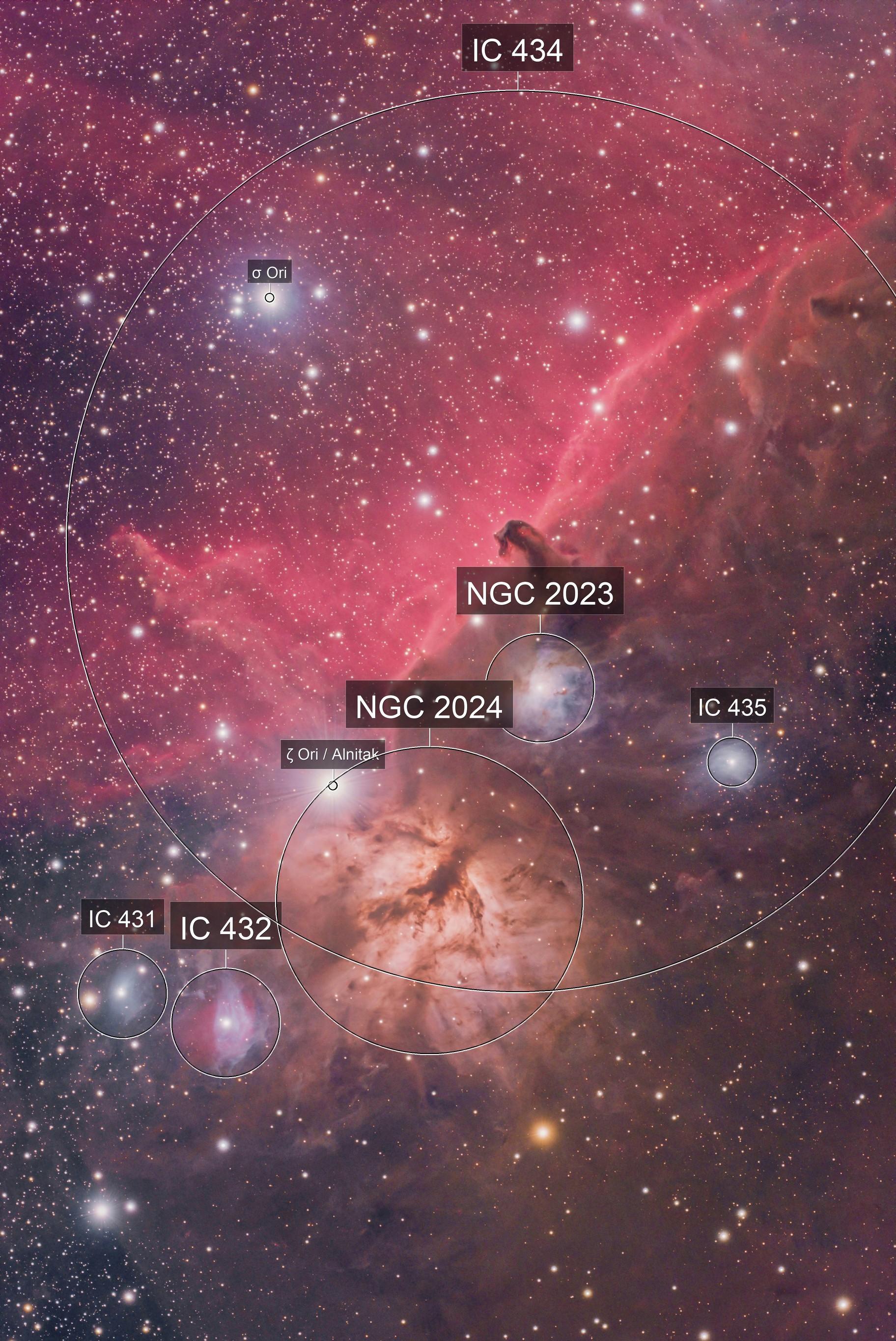 IC434, Barnard 33, Horsehead Nebula