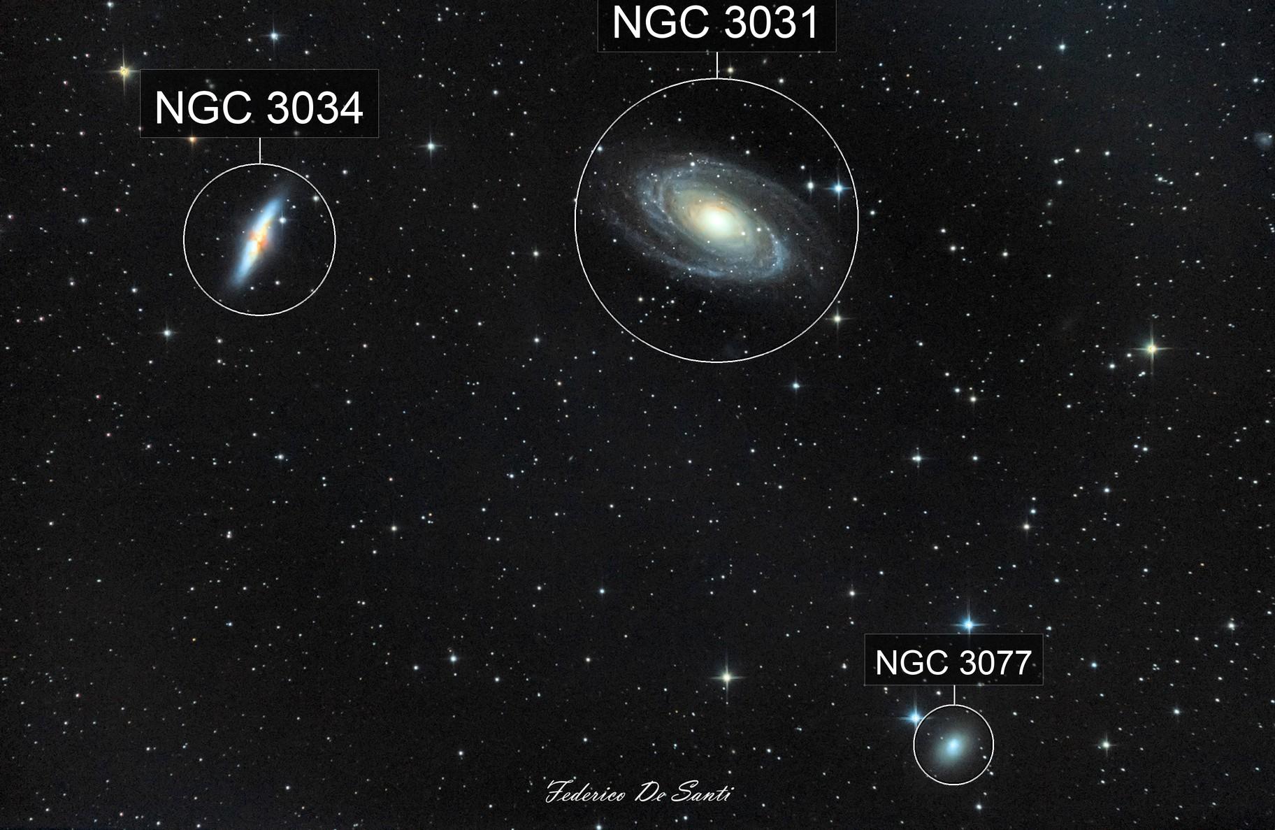 M81 - M82 & NGC3077