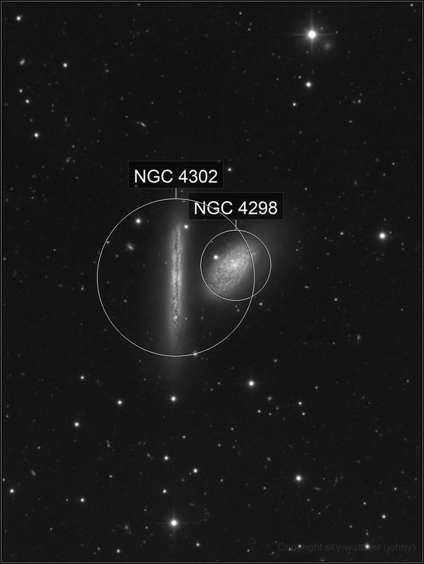 NGC 4298 - NGC 4302   Interacting galaxies