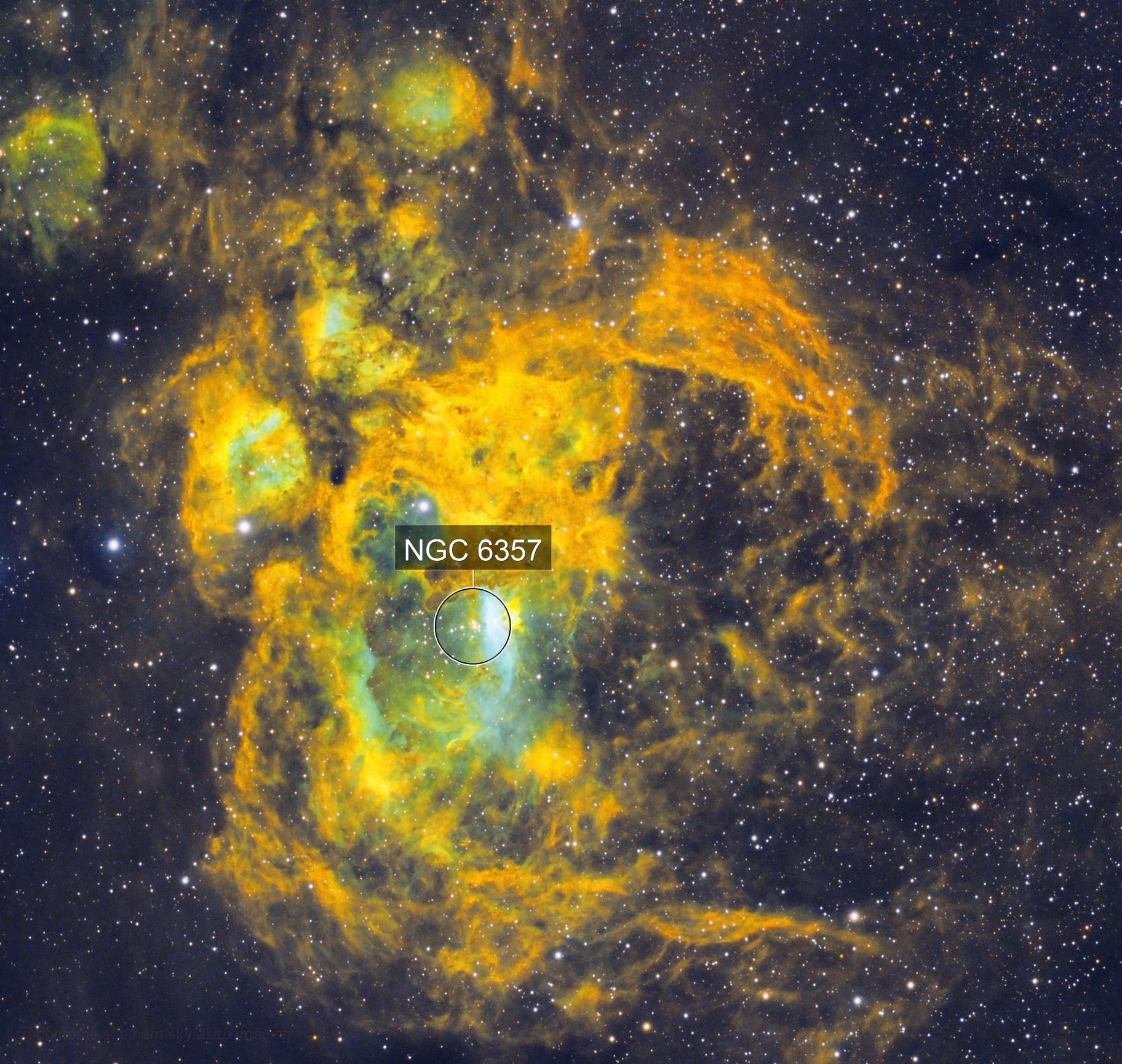 Praying Mantis Nebula (aka Lobster aka War and Peace ect) NGC6357