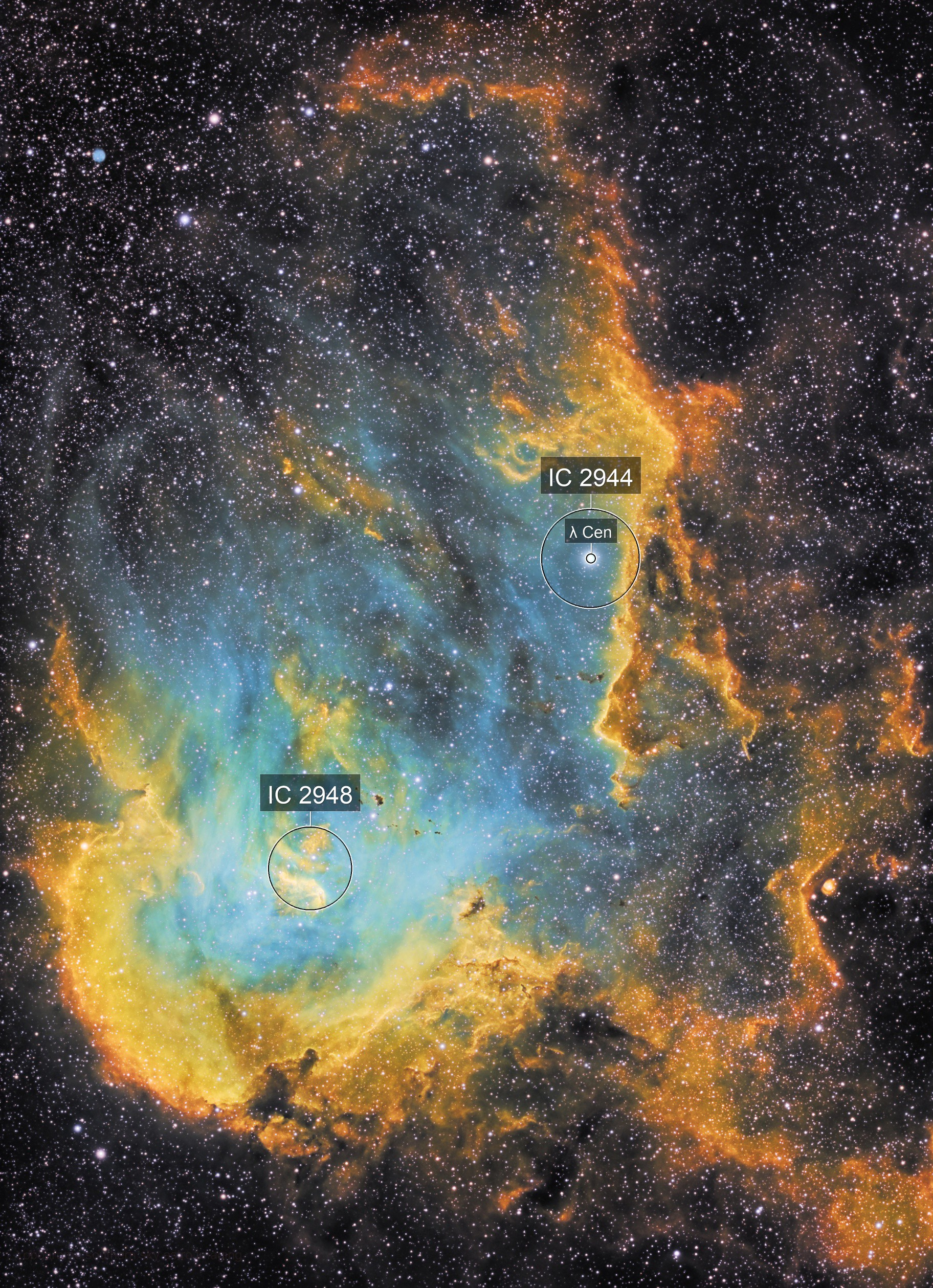 Running Chicken on Fire!  - NGC 2944 in SHO