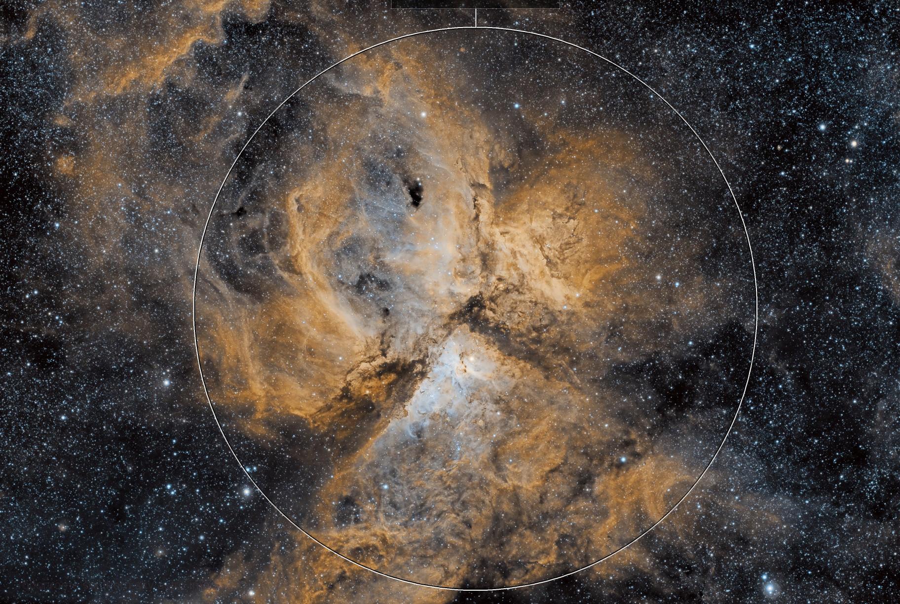 Eta Carina and the Keyhole Nebula with Askar 400