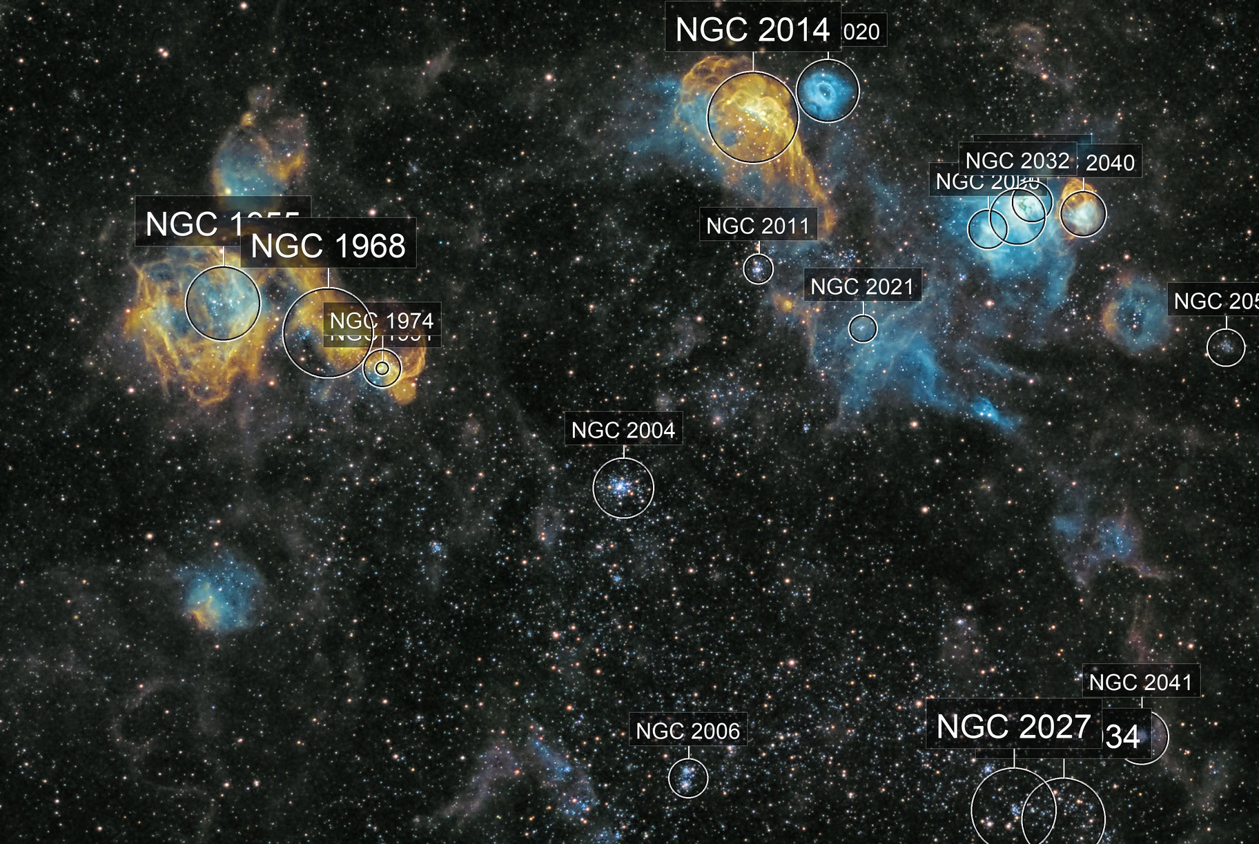 Space Bacteria? NGC1968 and friends