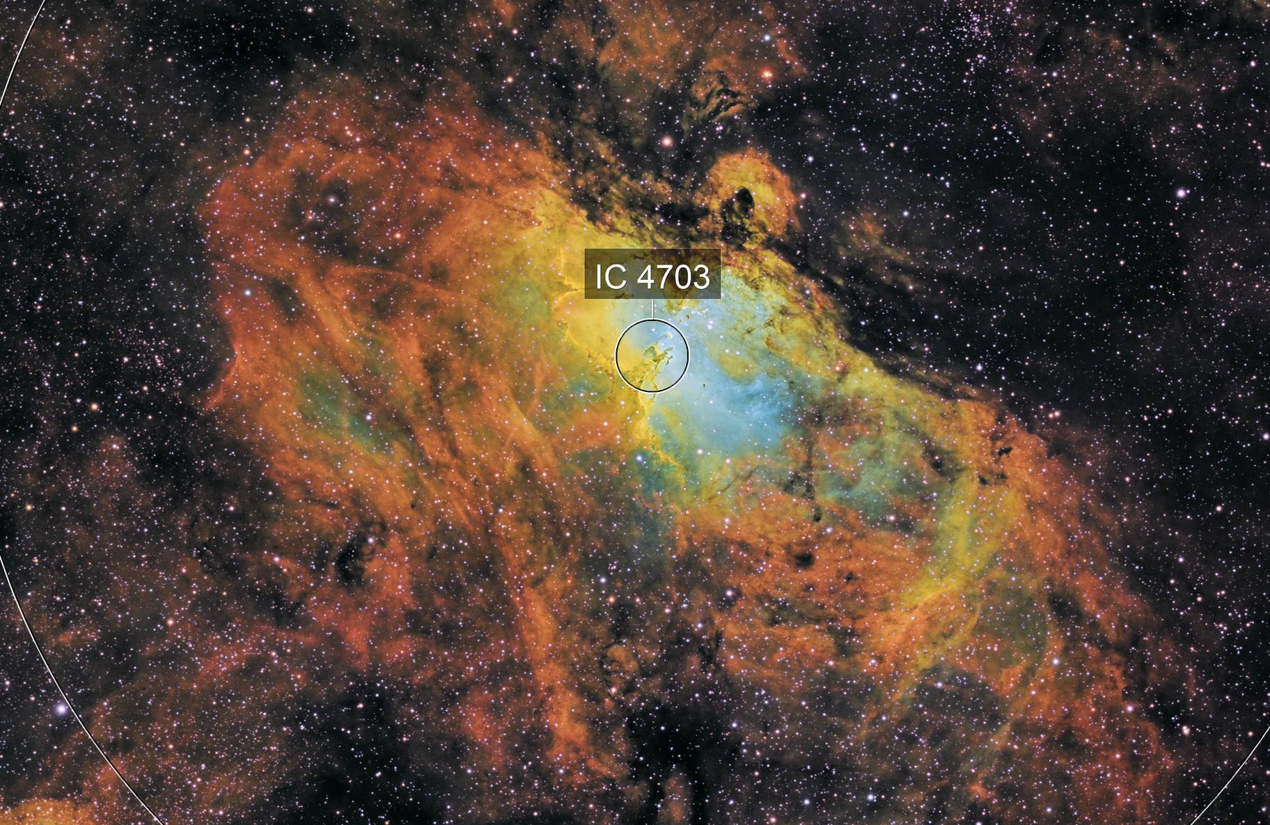The Eagle Nebula in SHO