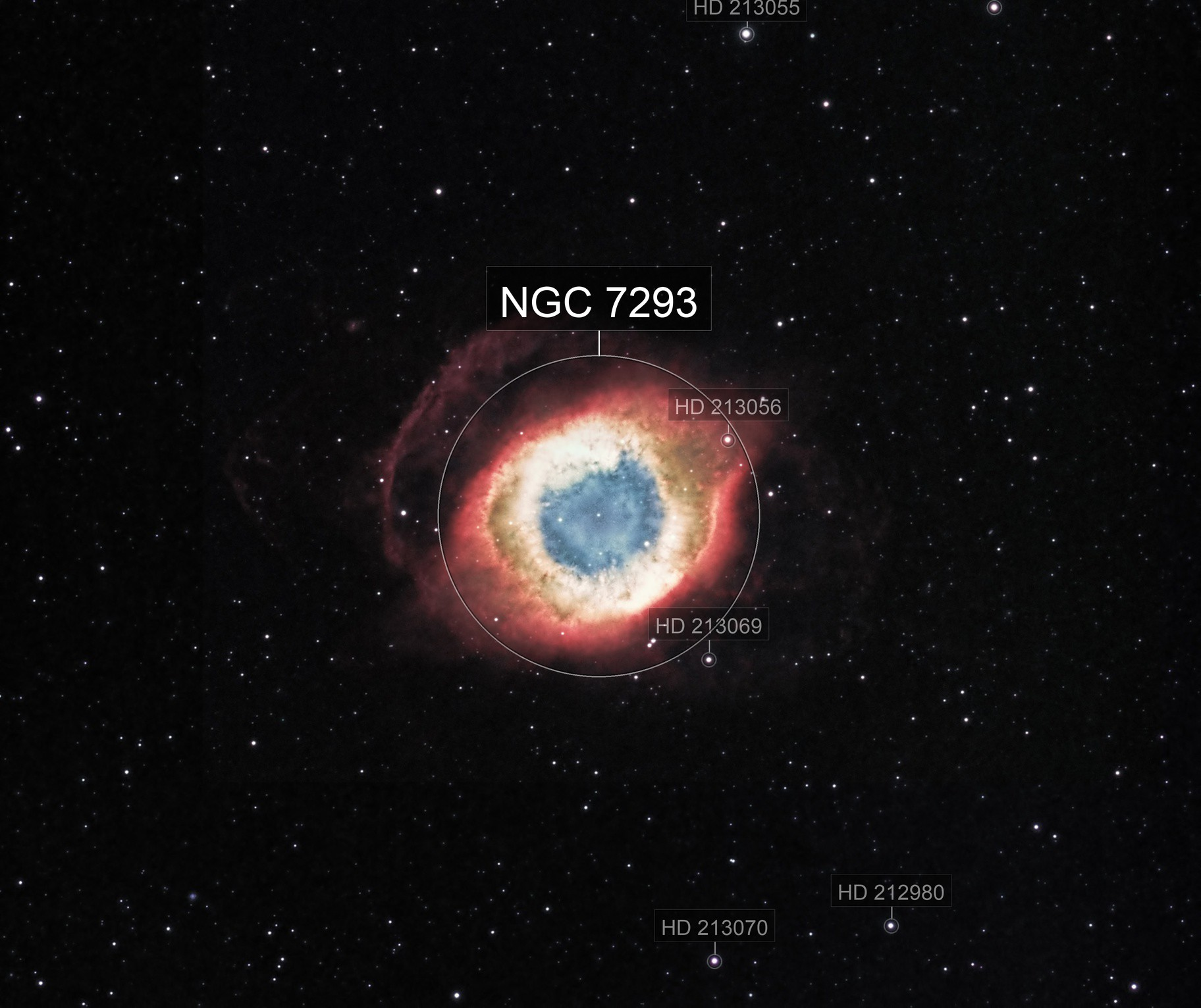 Helix Nebula in narrowband HSO