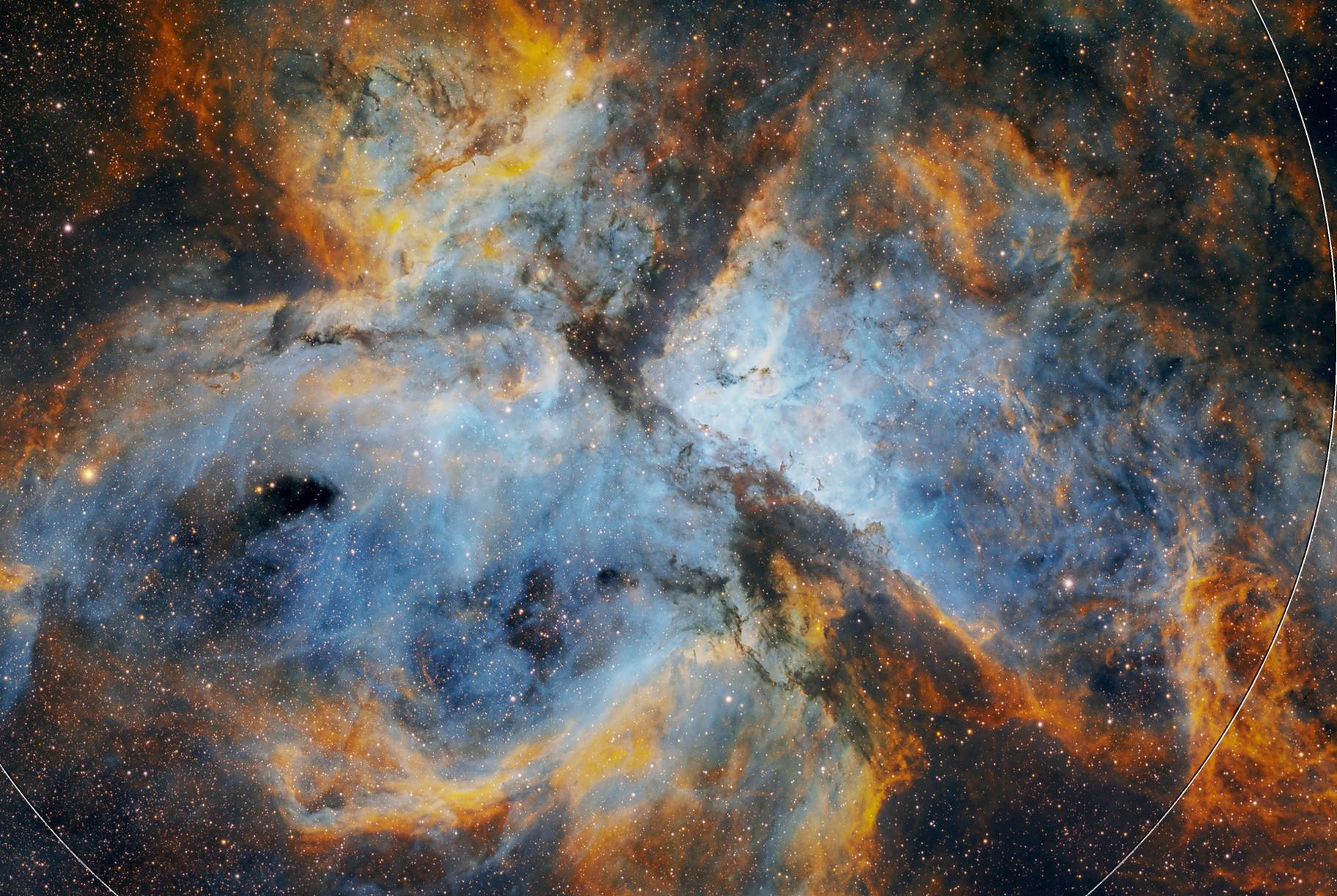 Carina Nebula in SHO - my first mono camera image ASI294mm